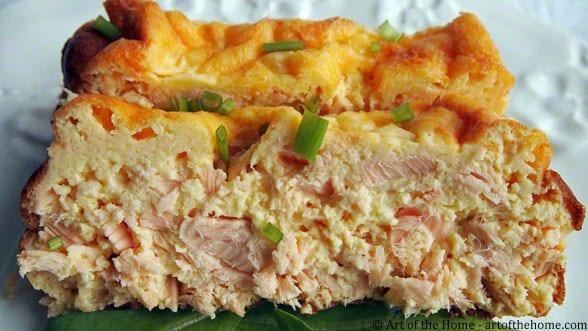 Salmon Quiche Loaf - Pain de Saumon