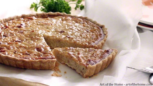 French Savory Tart: onion Tart