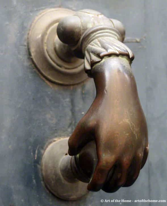 French antique door knockers