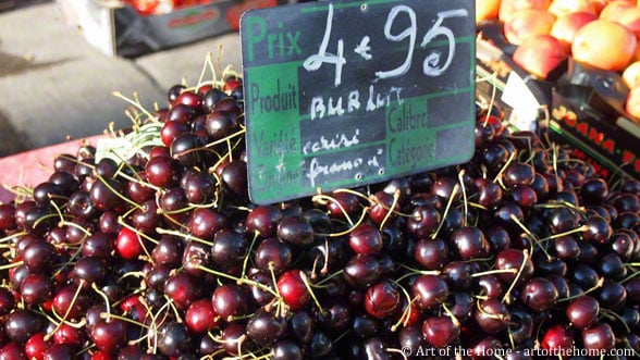 Farmers market pictures of cherries
