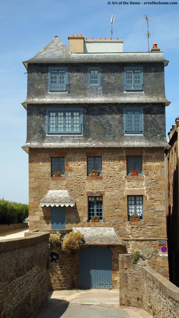 Stone house in St Malo, France