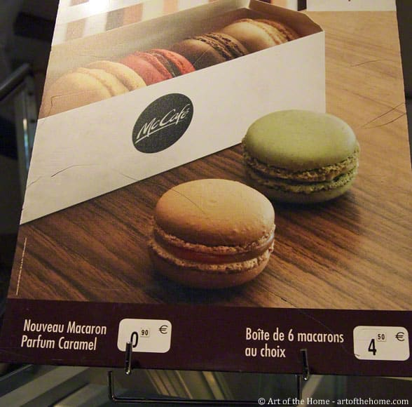 Mcdonald's macarons, Paris