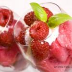 Verrine of Strawberry Sorbet