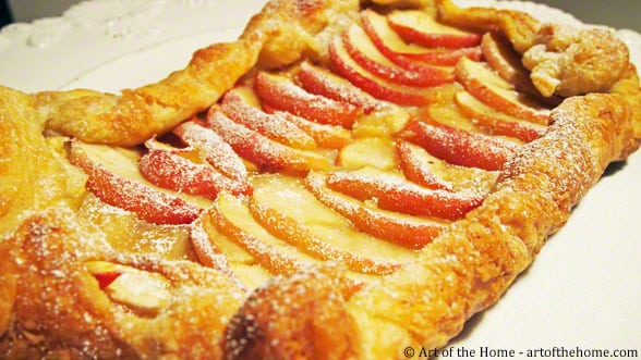 French Apple Puff Pastry Tart