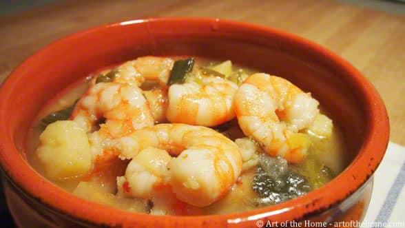 Leek and Potato Shrimp soup