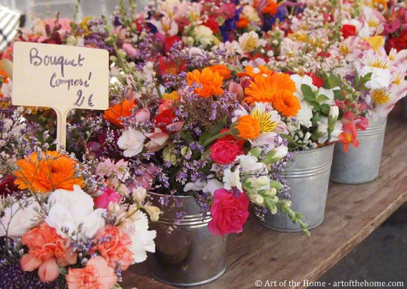 Farmers market pictures of flower bouquets