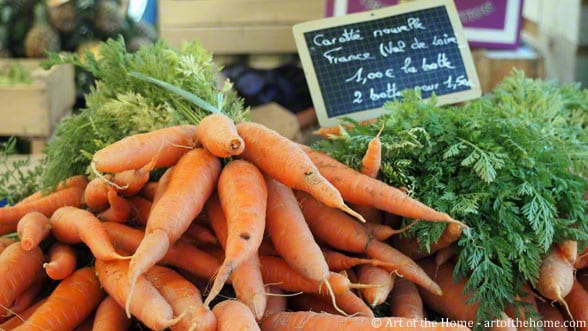 Farmers market pictures of new carrots