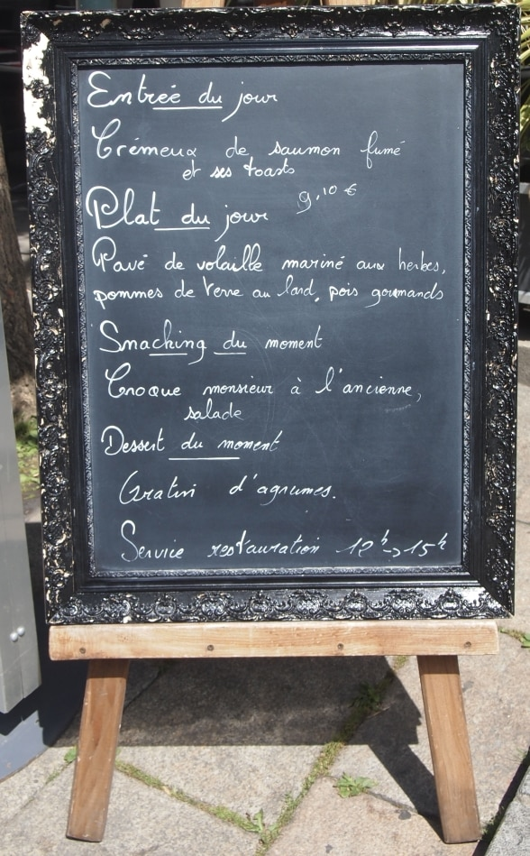 """French restaurant Menu"""