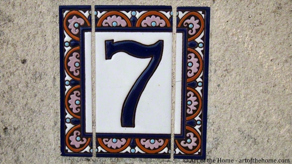 Ceramic French house number plaques