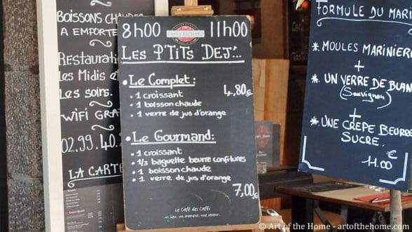 French breakfast menu