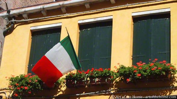 Italian Flag in Venice