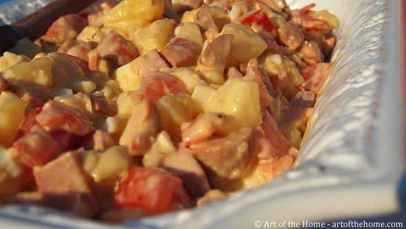 Piemontaise Salad with aioli sauce