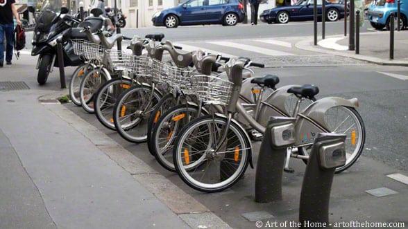 Velib' bikes Paris