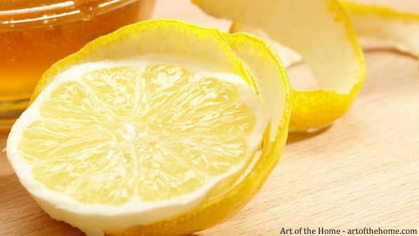 Lemon zest and peel