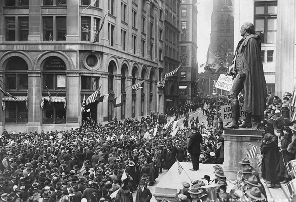 Armistice Day November 11th, 1918 in New York