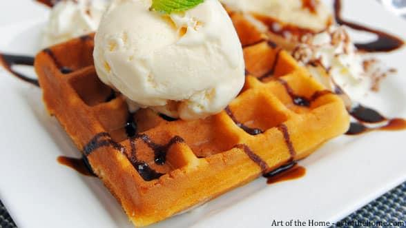 light waffles and fluffy pancakes batter